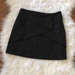 🌸Zara black origami folded mini skirt